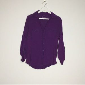 INC international concept button down blouse shirt